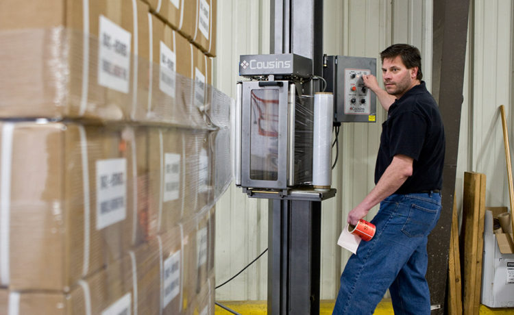 Midwest Assembly, Warehouse and Distribution wrapping shipment