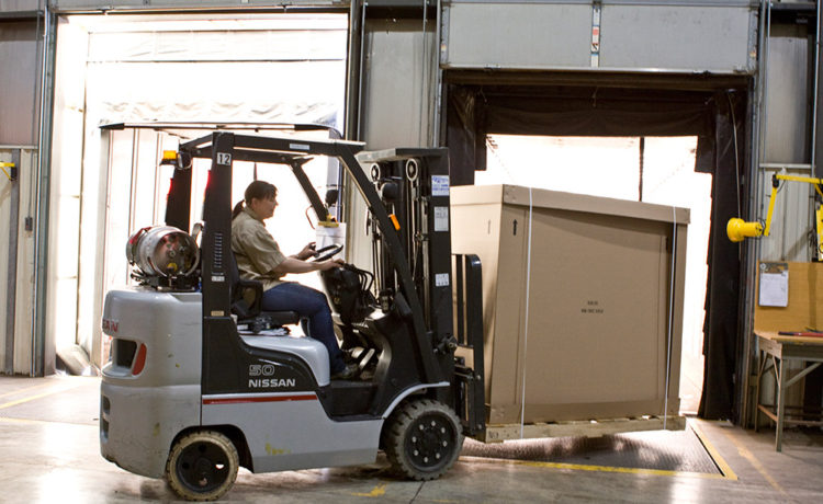 Midwest Assembly, Warehouse and Distribution - loading with fork truck
